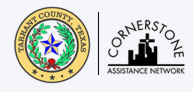 Tarrant County Seal and the Cornerstone Assistance Network logo